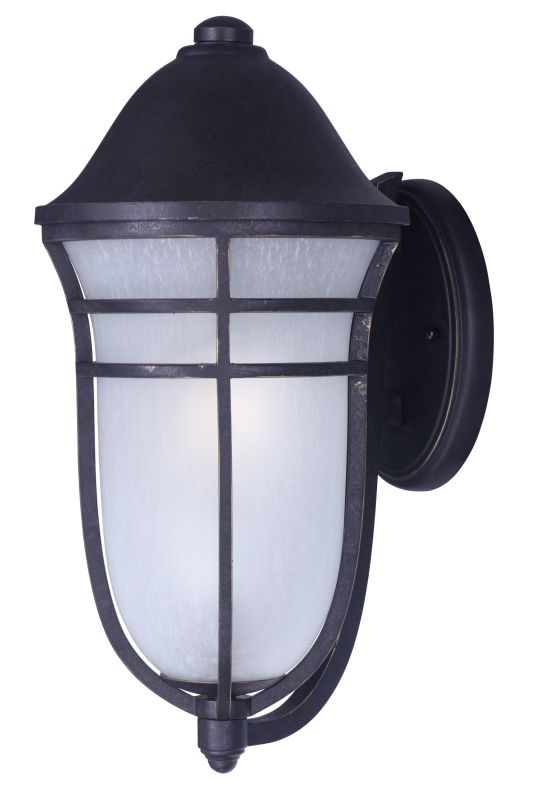 "Maxim 34205 Westport DC 1 Light 13"" Wide Outdoor Wall Sconce with Wisp"