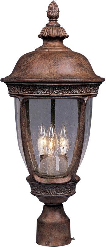 Maxim 3461CD Knob Hill DC 3 Light Outdoor Post Light Sienna Outdoor Sale $212.00 ITEM: bci954574 ID#:3461CDSE UPC: 783209346109 :
