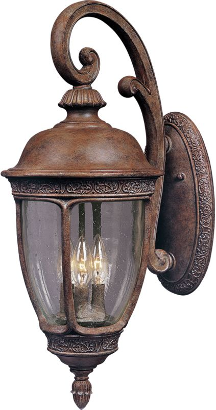 """Maxim 3464 3 Light 19.5"""" Tall Outdoor Wall Sconce from the Knob Hill"""