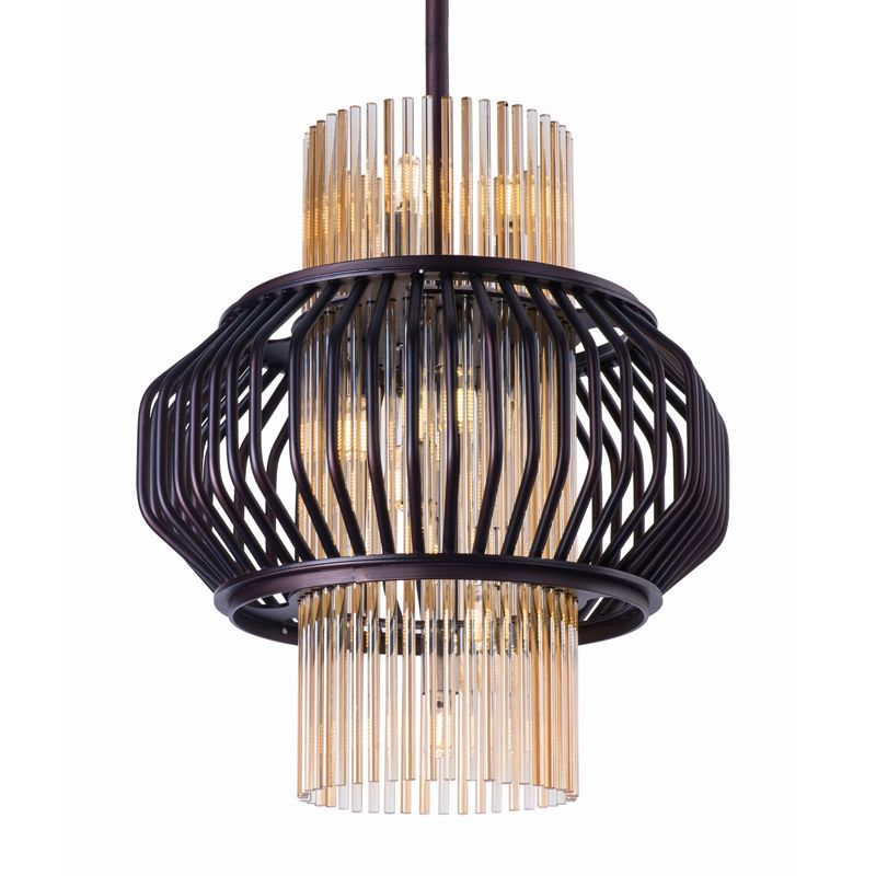 Maxim 38485 Aviary 12 Light LED Single Pendant Oil Rubbed Bronze Sale $1098.00 ITEM: bci2892005 ID#:38485CGOI UPC: 783209121614 :