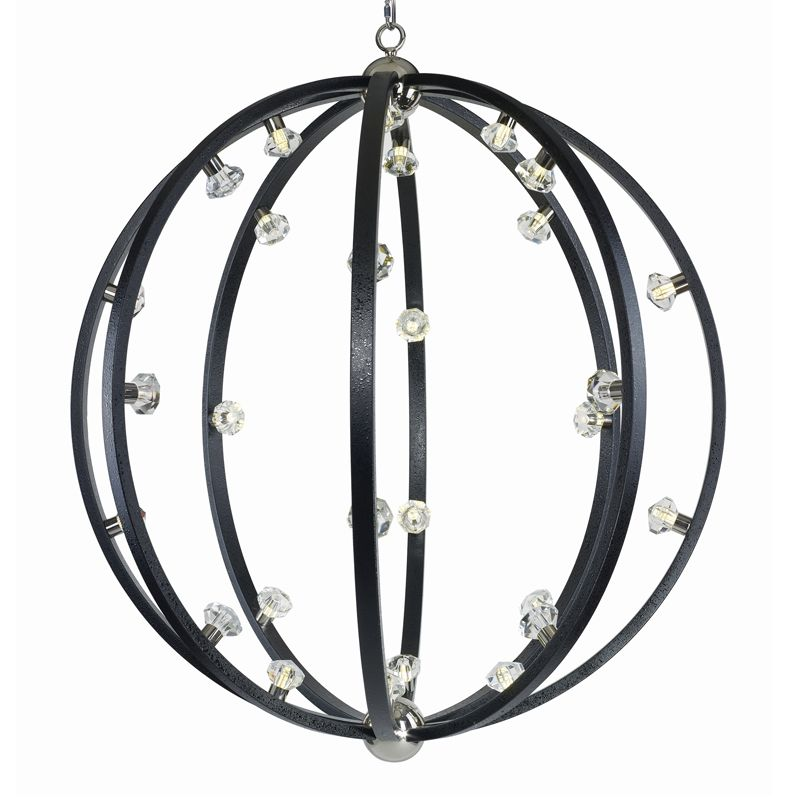 Maxim 39108 Equinox LED 28 Light LED Single Pendant Textured Black /