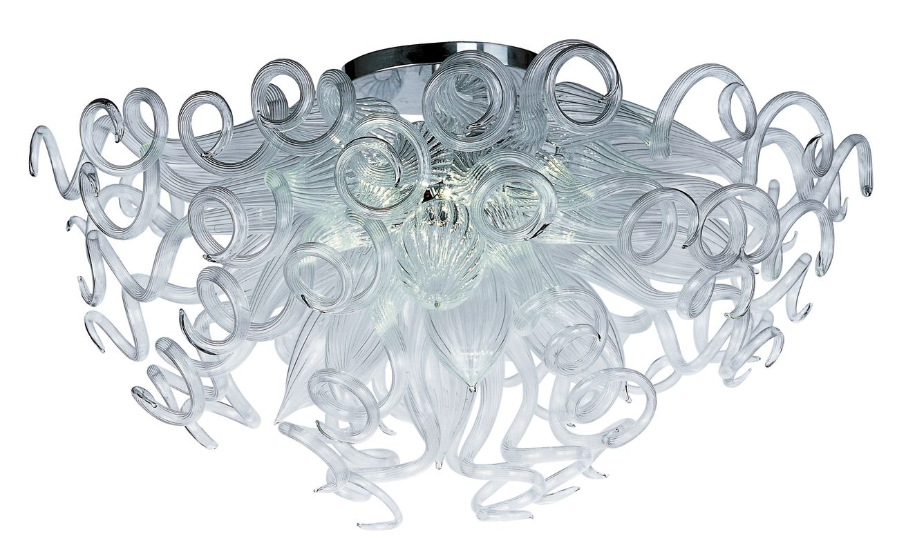 "Maxim 39730 12 Light 33"" Wide LED Flush Mount Ceiling Fixture from the"