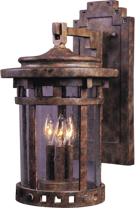 """Maxim 40034 3 Light 16"""" Tall Outdoor Wall Sconce from the Santa"""