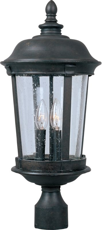 Maxim 40091CD Dover VX 3 Light Outdoor Post Light Bronze Outdoor