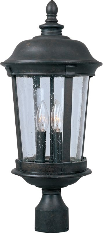 Maxim 40092CD Dover VX 3 Light Outdoor Post Light Bronze Outdoor