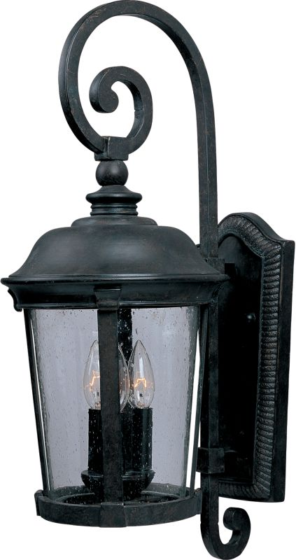 """Maxim 40094 3 Light 24.5"""" Tall Outdoor Wall Sconce from the Dover VX"""