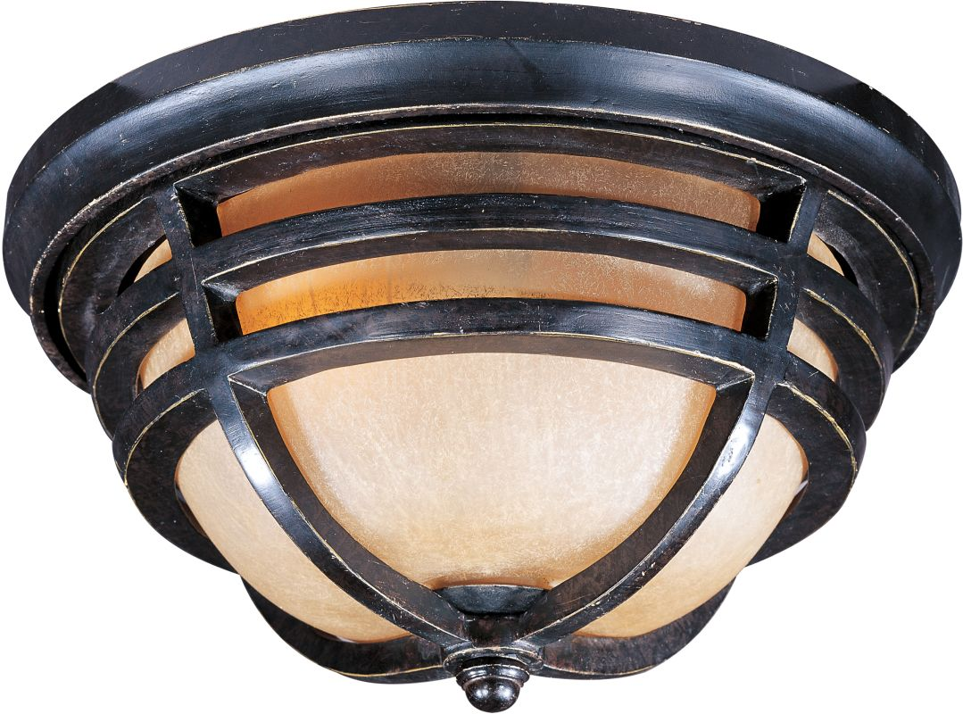 Maxim 40109MC Westport VX 2-Bulb Flush Mount Outdoor Ceiling Fixture -