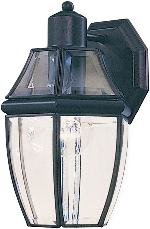"Maxim 4010 1 Light 10.5"" Tall Outdoor Wall Sconce Black / Clear Glass"