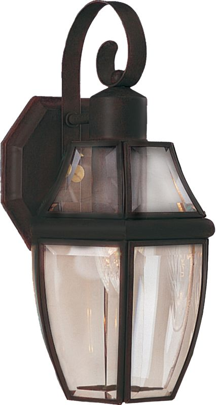 "Maxim 4011 1 Light 13.5"" Tall Outdoor Wall Sconce Burnished / Clear"