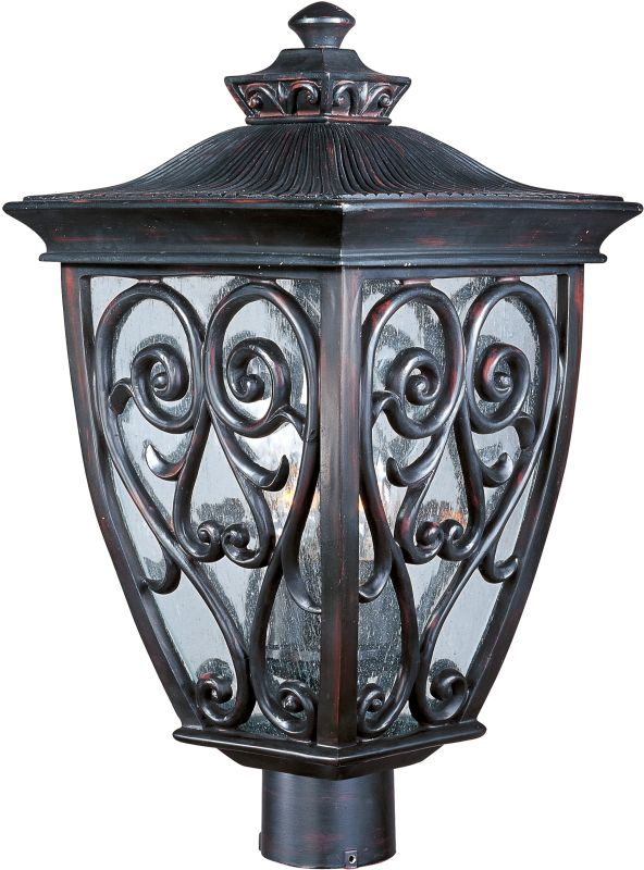 Maxim 40120CD Newbury VX 3 Light Outdoor Post Light Oriental Bronze