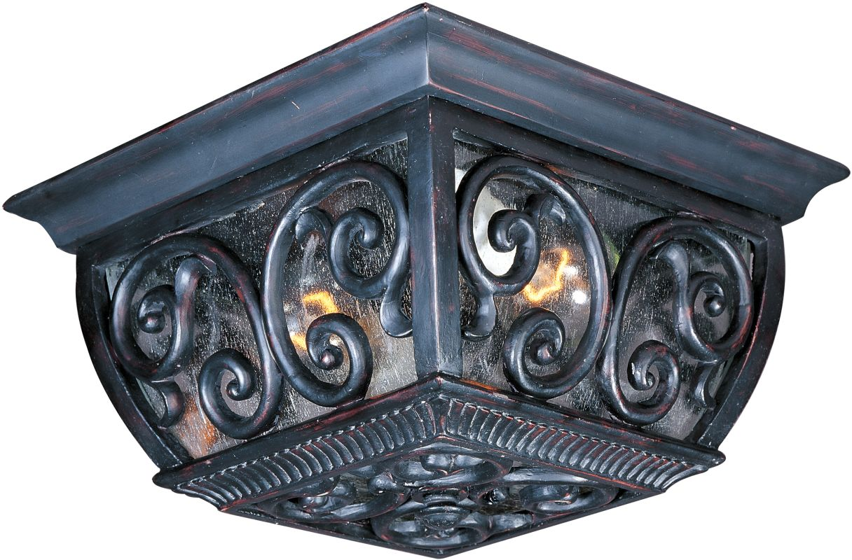 Maxim 40129CD Newbury VX 2-Bulb Flush Mount Outdoor Ceiling Fixture -