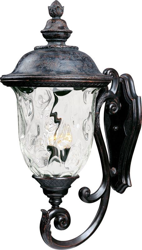 """Maxim 40425 3 Light 31"""" Tall Outdoor Wall Sconce from the Carriage"""