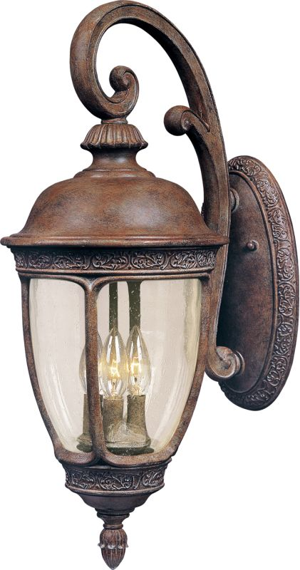 "Maxim 40465 3 Light 24.5"" Tall Outdoor Wall Sconce from the Knob Hill"