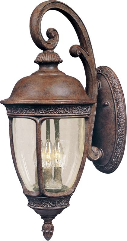 "Maxim 40466 3 Light 33"" Tall Outdoor Wall Sconce from the Knob Hill VX"