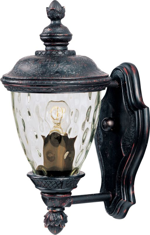 """Maxim 40495 1 Light 12.5"""" Tall Outdoor Wall Sconce from the Carriage"""