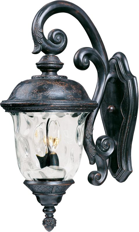 """Maxim 40497 3 Light 26.5"""" Tall Outdoor Wall Sconce from the Carriage"""
