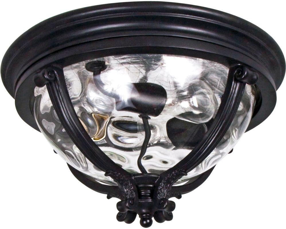 Maxim 41420WG Camden VX 3-Bulb Flush Mount Outdoor Ceiling Fixture -