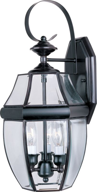 "Maxim 4191 3 Light 19"" Tall Outdoor Wall Sconce Burnished / Clear"