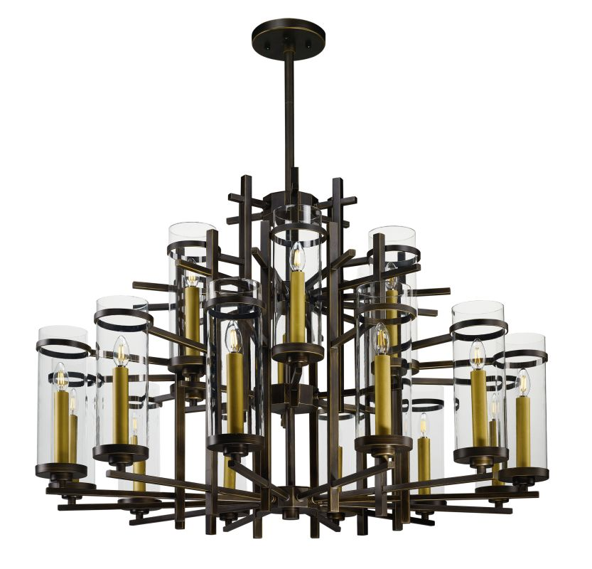 "Maxim 43749 Midtown LED 18 Light 47.25"" Wide 2 Tier Candle Style Sale $5898.00 ITEM: bci2892044 ID#:43749CLGB UPC: 783209125056 :"