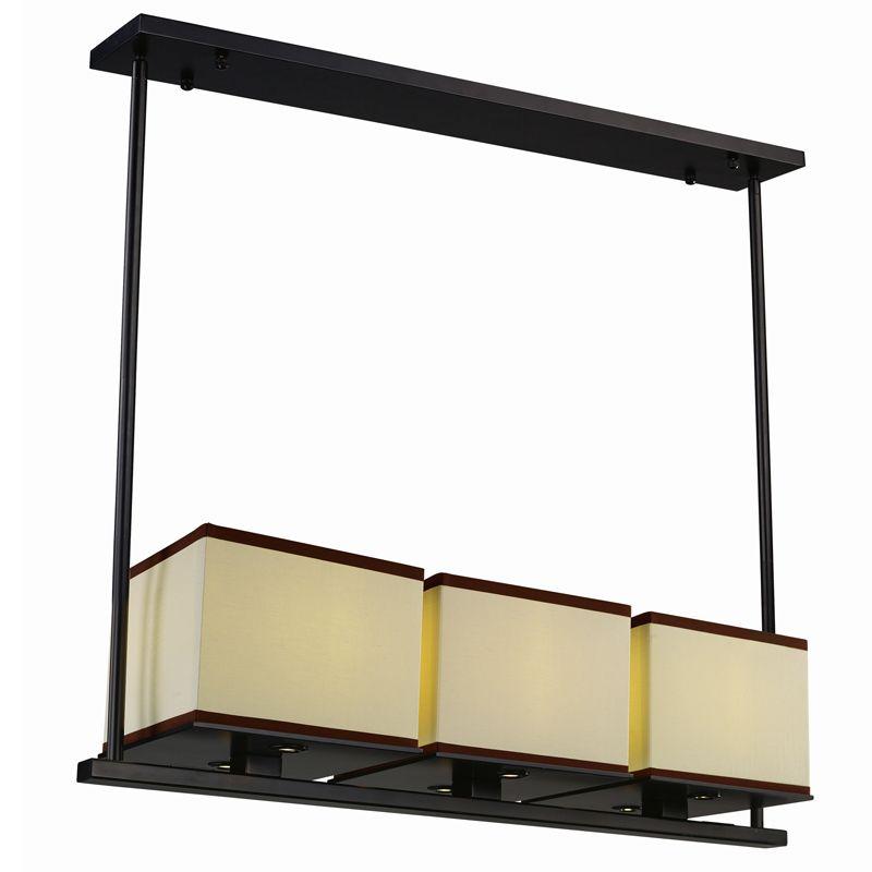 Maxim 43813 Tribeca 3 Light LED Linear Chandelier Dark Bronze Indoor