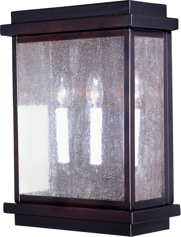 """Maxim 4650 3 Light 15.5"""" Tall Outdoor Wall Sconce from the Cubes"""