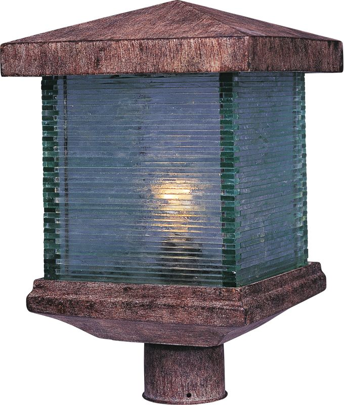 Maxim 48735CL Triumph VX 1 Light Outdoor Post Light Earth Tone Outdoor