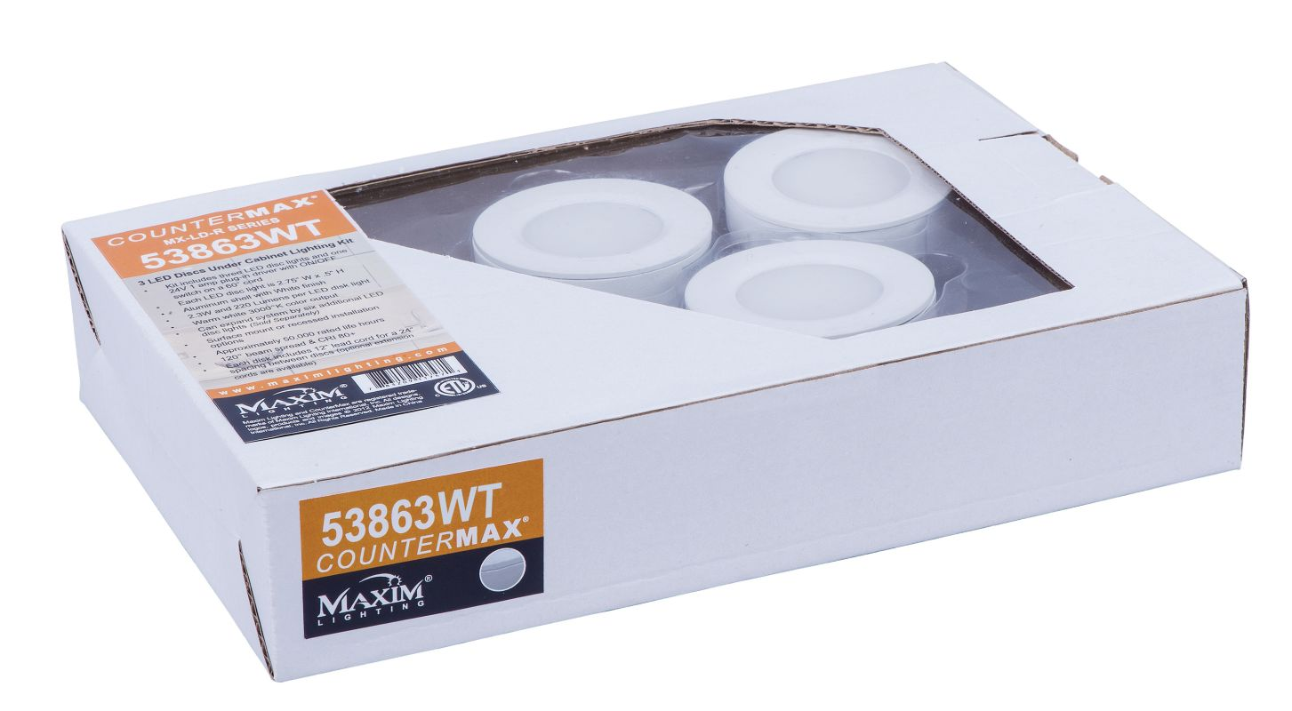 Maxim 53863 Set of 3 LED Disc Starter Kit from the CounterMax