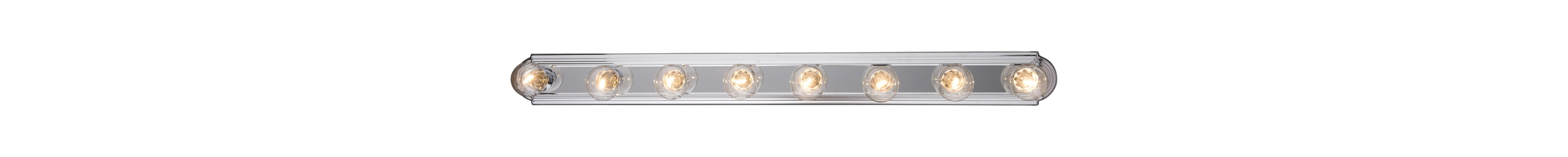 "Maxim 7128 8 Light 48"" Wide Bathroom Fixture from the Essentials -"