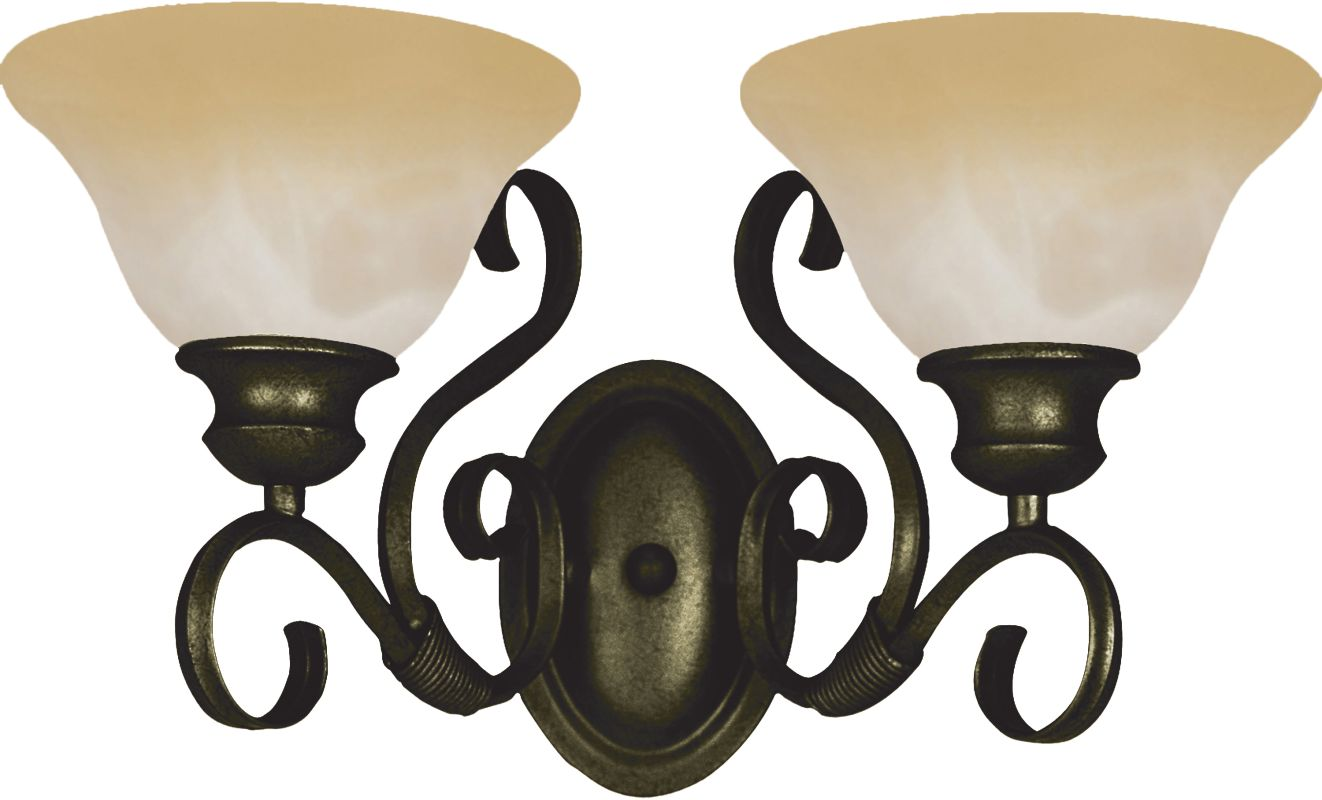 """Maxim 8020 2 Light 16"""" Wide Bathroom Fixture from the Pacific"""