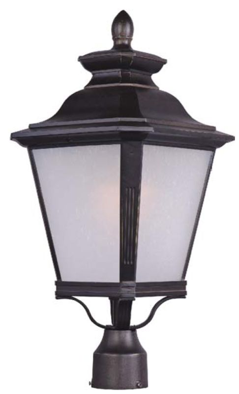 Maxim 85621 Knoxville EE 1 Light Outdoor Post Lantern Bronze Outdoor