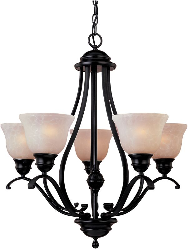 Maxim 85805 Linda EE 5 Light Single-Tier Chandelier Oil Rubbed Bronze