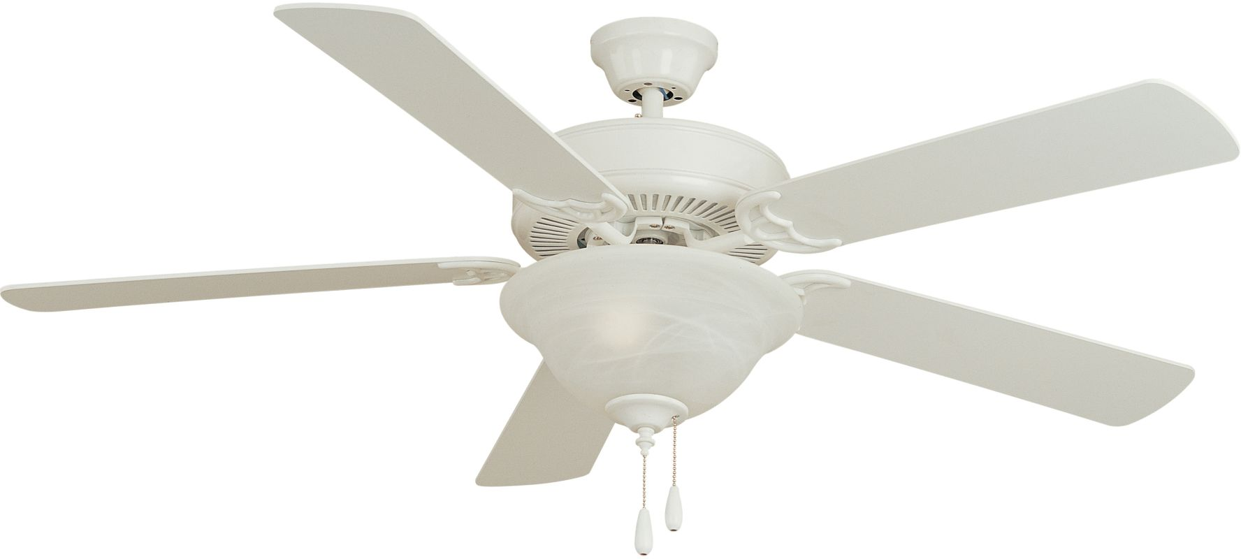 """Maxim 89905MW Basic-Max 52"""" Indoor Ceiling Fan with 5 Oak Blades Matte"""