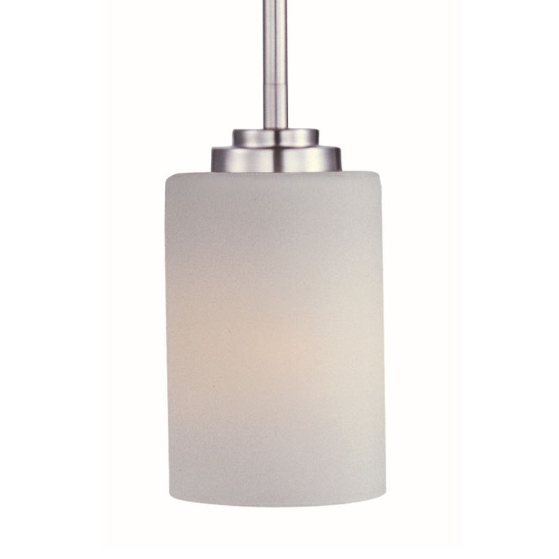 """Maxim 90030 1 Light 4"""" Wide Pendant from the Deven Collection Satin"""
