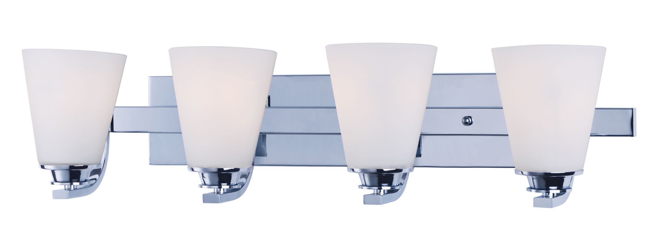 "Maxim 9014 Conical 7"" Tall 4 Light Bathroom Vanity Light with White"