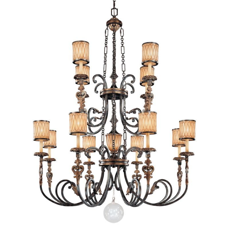 Metropolitan N6499 13 Light 2 Tier Candle Style Chandelier from the