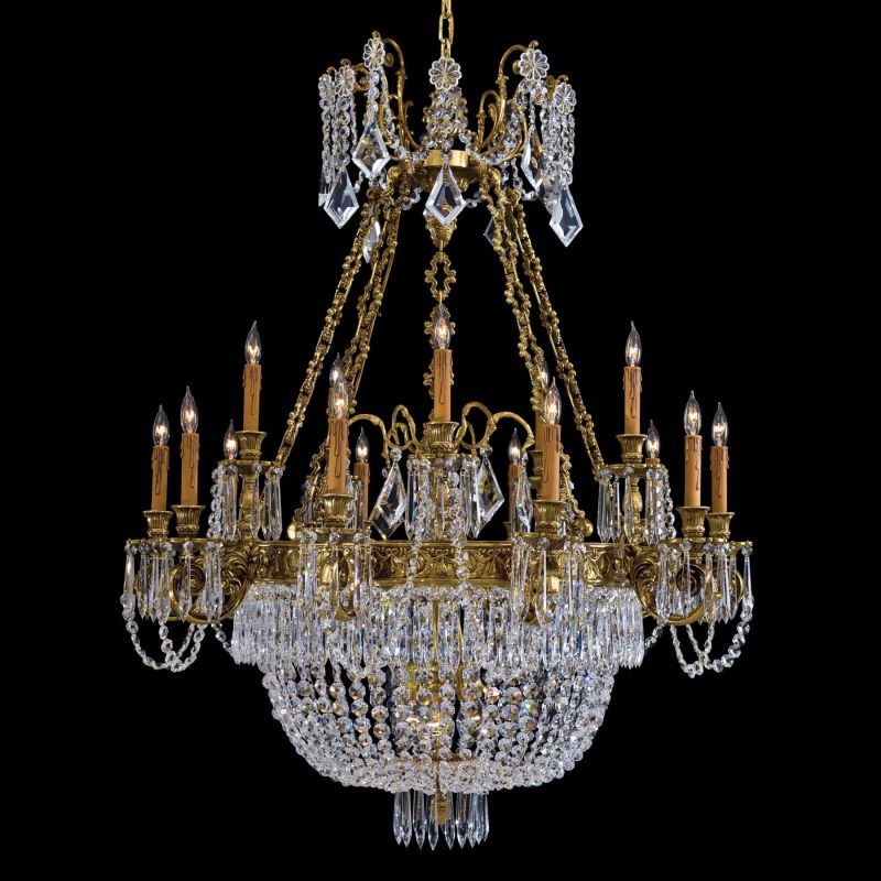 Metropolitan N9063 21 Light Single Tier Crystal Chandelier from the
