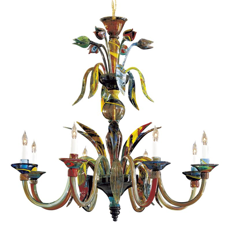 Metropolitan C7056/8 8 Light 1 Tier Candle Style Chandelier from the
