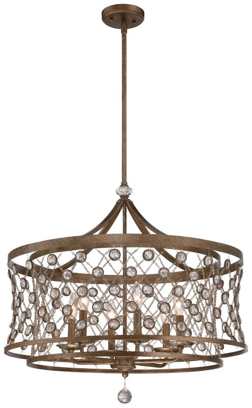Metropolitan N6587-272 6 Light Drum Pendant from the Vel Catena Sale $1189.95 ITEM: bci2453295 ID#:N6587-272 UPC: 840254043268 :