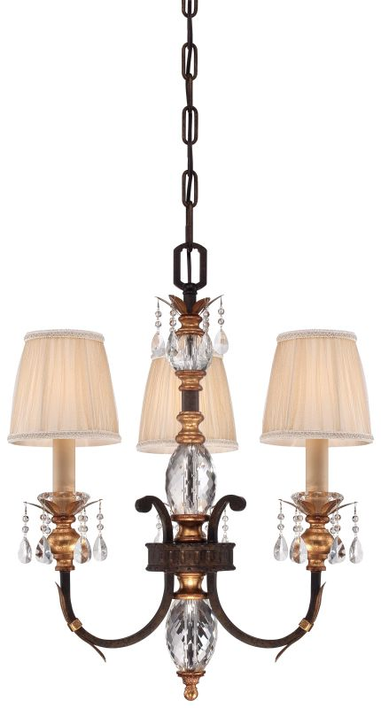 Metropolitan N6643-258B 3 Light 1 Tier Candle Style Crystal Chandelier
