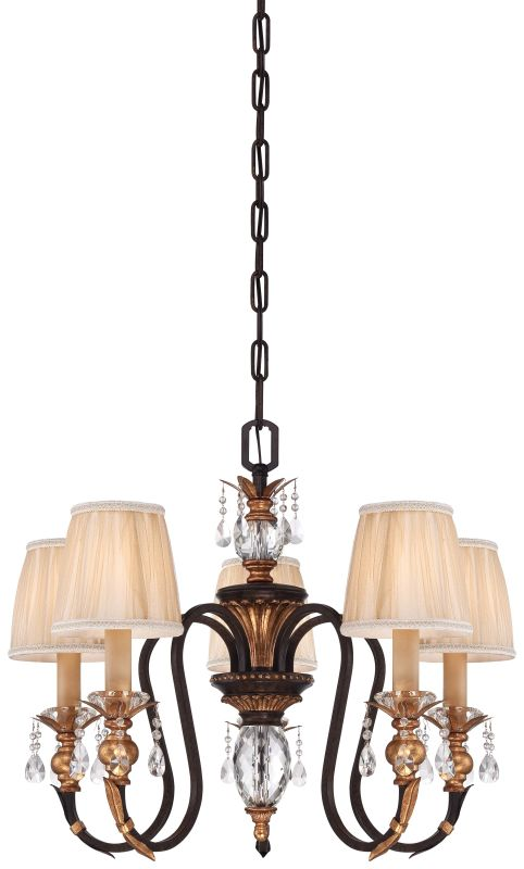 Metropolitan N6645-258B 5 Light 1 Tier Candle Style Crystal Chandelier