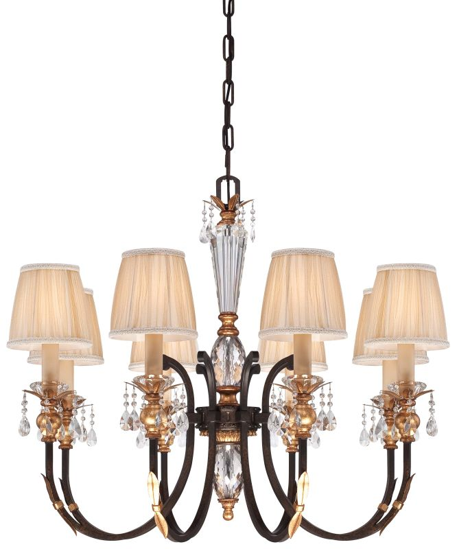 Metropolitan N6648-258B 8 Light 1 Tier Candle Style Crystal Chandelier
