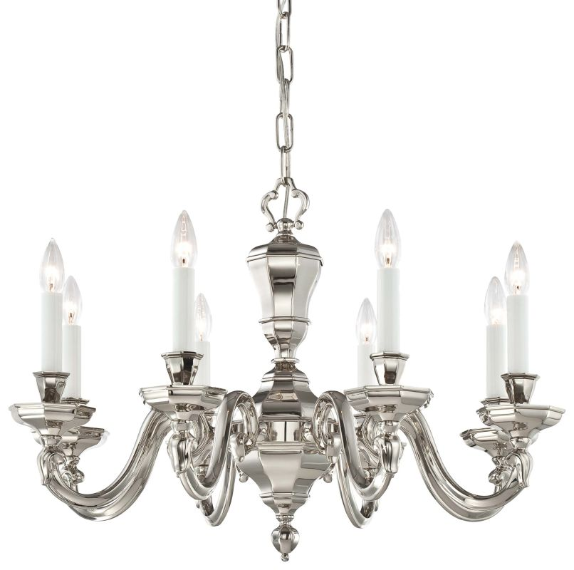 Metropolitan N1115-613 8 Light 1 Tier Candle Style Chandelier in