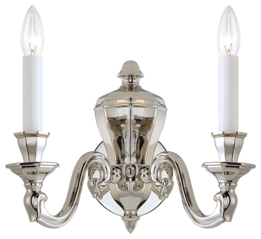 Metropolitan N1118-613 2 Light Candle-Style Double Wall Sconce in