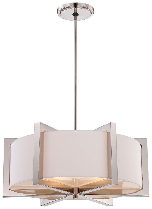 Metropolitan N6263-613 4 Light Drum Pendant in Polished Nickel from Sale $894.95 ITEM: bci1951824 ID#:N6263-613 UPC: 840254040007 :