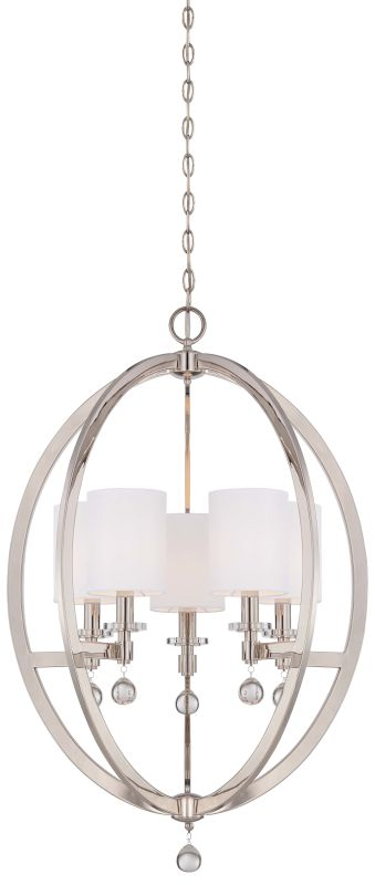 Metropolitan N6842-613 5 Light 1 Tier Chandelier from the Chadbourne