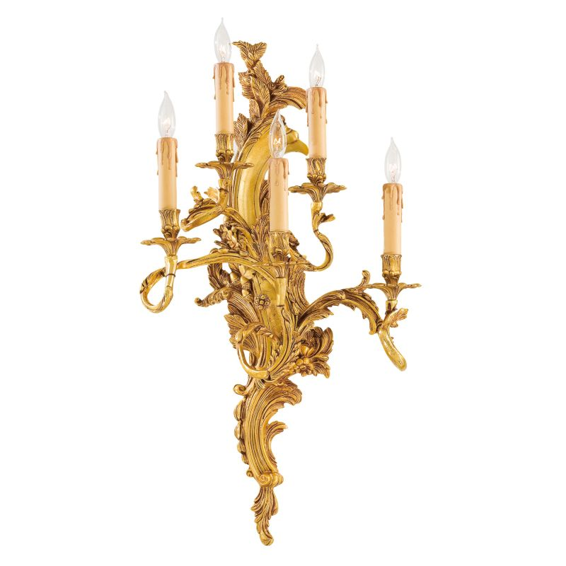 "Metropolitan N2195-L 5 Light 16.5"" Width Candle-Style Wall Sconce"