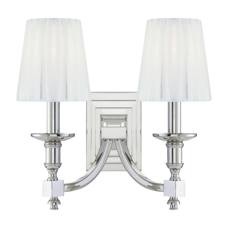 Metropolitan N2642 2 Light Candle-Style Double Wall Sconce from the