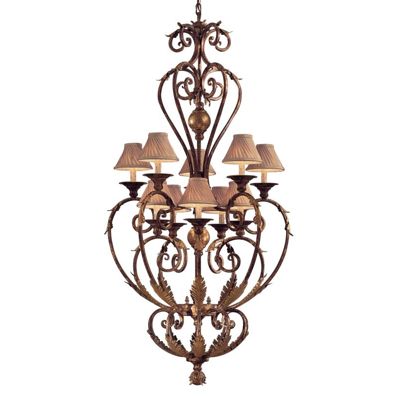 Metropolitan N3643 10 Light 2 Tier Candle Style Chandelier from the