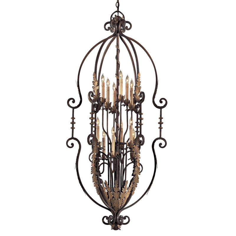 Metropolitan N3644 12 Light 2 Tier Candle Style Chandelier from the