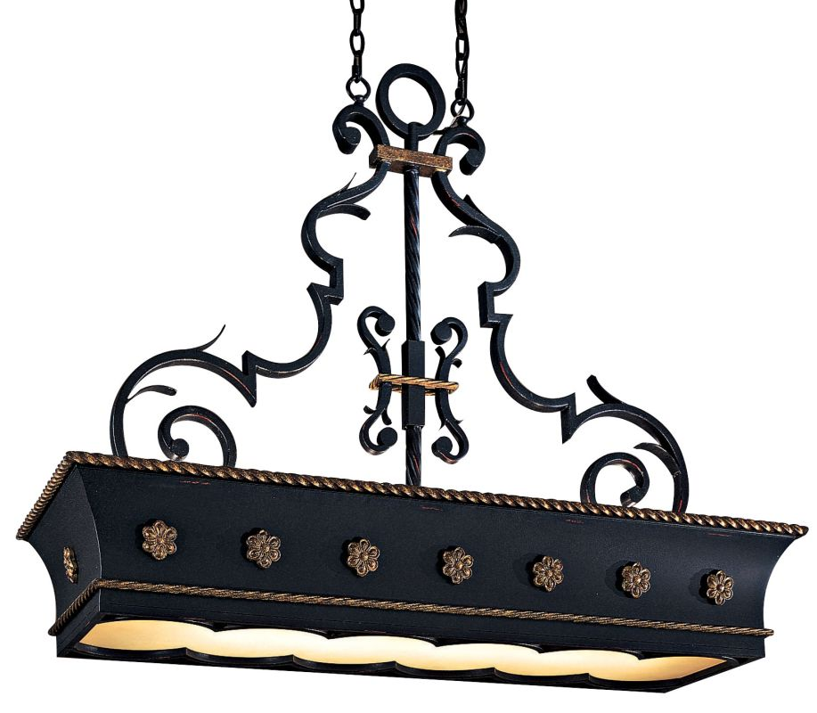 Metropolitan N6107 12 Light 1 Tier Linear Chandelier from the
